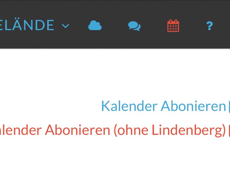 Kalender-Abo ohne Lindenberg