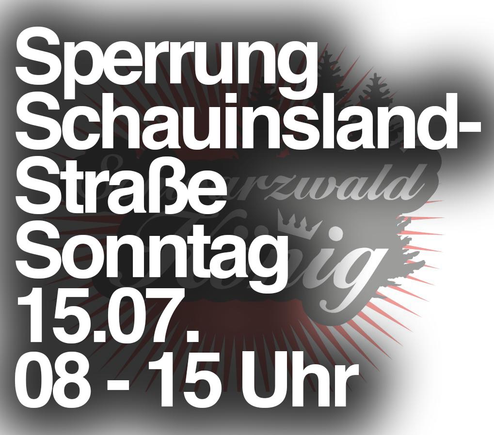 15.07. Sperrung: L124 (Schauinslandstrasse) – Schauinslandkönig