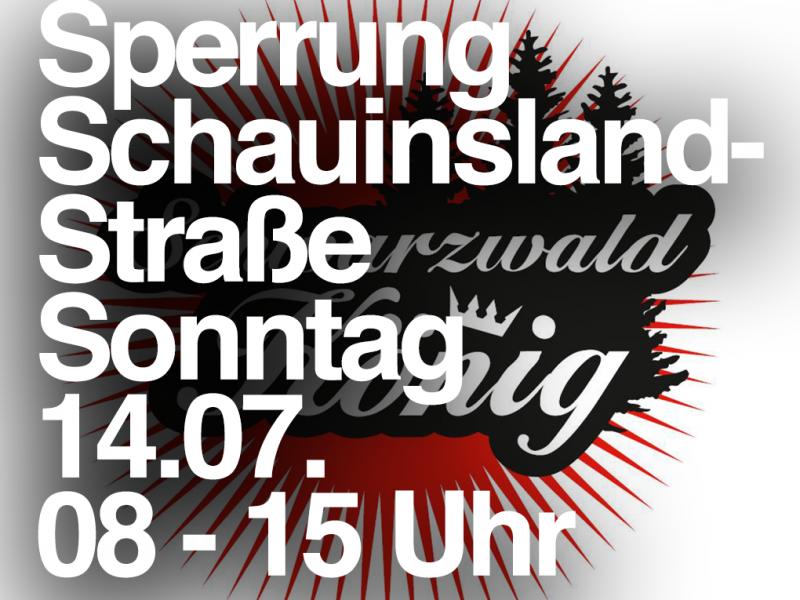 14.07. Sperrung: L124 (Schauinslandstrasse) – Schauinslandkönig