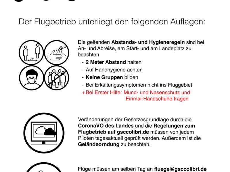 09.05.2020: Wiederaufnahme des Flugbetriebs im Fluggebiet Schauinsland ab 11.05.2020