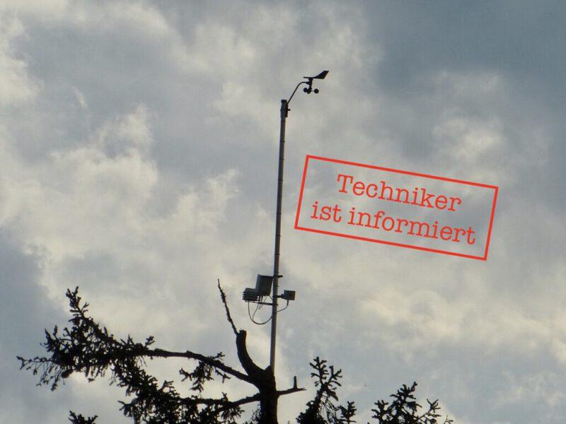 Holfuy Wetterstation am Schauinsland ausgefallen