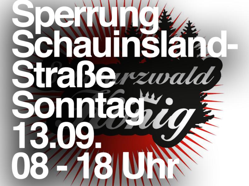13.09. Sperrung: L124 (Schauinslandstrasse) – Schauinslandkönig 2020