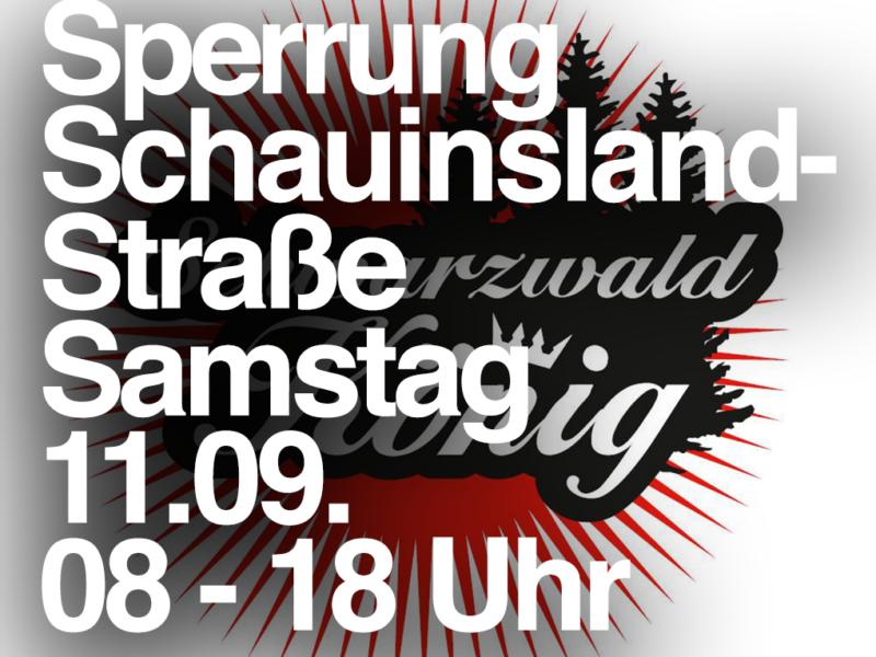 11.09. Sperrung: L124 (Schauinslandstrasse) – Schauinslandkönig 2020